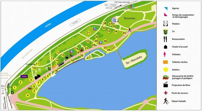 Plan Parc tête d'or 2013